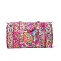 Vera Bradley Large Duffel in Jazzy Blooms with Orange
