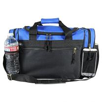 """DALIX 17"""" Duffle Travel Bag with Water Bottle Mesh Pockets"""