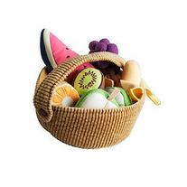 IKEA DUKTIG 9-piece fruit basket set,Plush Toys