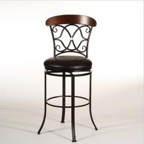 Hillsdale 5026-826 Dundee Swivel Counter Stool, Dark Coffee