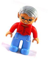 Lego Duplo - Minifig Grandma - very rare - Female, Medium