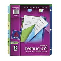 Avery Durable Pre-printed 2-Pkt Plastic Dividers