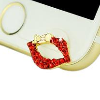 MobilePick® Dust Plug Iphone 6s Cute Crystal Bling Red Lips