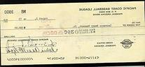Dutch Rennert Signed Umpire 1973 Pcl Check Rare JSA Certed
