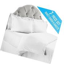 Nestl Bedding 7-Piece Microfiber Queen Duvet Cover and Bed