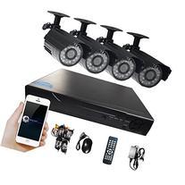 Hi-Tech DVR Kit 4CH 960H D1 DVR and 4 X 700TVL Camera