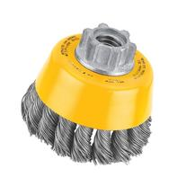 DEWALT DW4910 3-Inch by 5/8-Inch-11 Knotted Cup Brush/Carbon