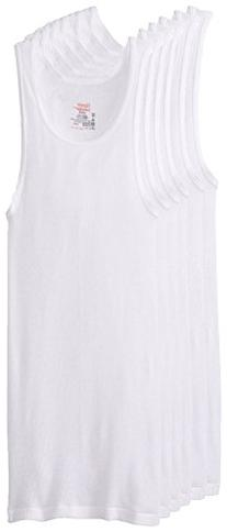 Medium Black and Grey Hanes Dyed Tank Blk/Gray, Med, 4pk