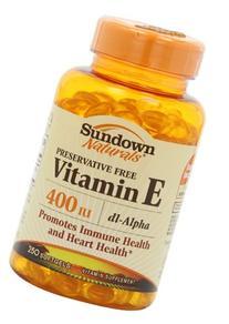 Sundown Vitamin E, 400 Iu, Dl-Alpha Softgels, 250-Count