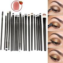 Hotrose 20 Pcs Cosmetic Makeup Brushes Set Eyeshadow Lip
