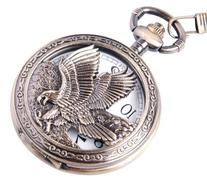 ShoppeWatch Eagle Pocket Watch And Chain Quartz Movement