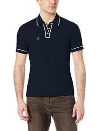 Original Penguin Men's Earl Pique Polo Shirt, Total Eclipse