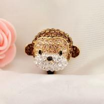 Earphone Jack Accessory 1pcs Of Crystal 3D Monkey Crystal