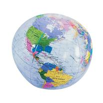 Earth Globe Beach Balls - 6 Cnt