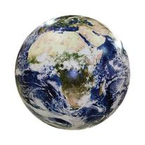 Earthball, Inflatable Earth Globe from satellite images,