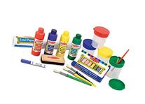 Melissa & Doug Easel Accessory Set - Paint, Cups, Brushes,