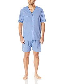 Majestic International Men's Easy Care Blended Shorty Pajama