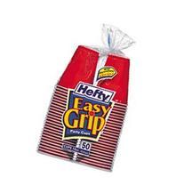 ** Easy Grip Disposable Plastic Party Cups, 18 oz, Red, 50/Pack