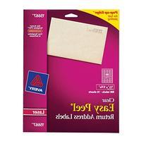 Avery Easy Peel Clear Return Address Labels for Laser