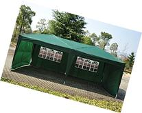 Outsunny Easy Pop Up Canopy Party Tent, 10 x 20-Feet, Green