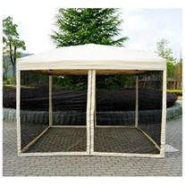 Outsunny 10' x 10' Easy Pop Up Canopy Tent w/ Mesh Side
