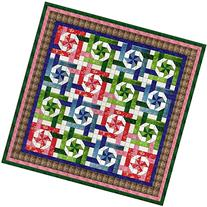Easy Quilt Kit Pinwheel Snowball