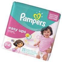Pampers Easy Ups Trainers For Girls Size 3T-4T, 23 CT