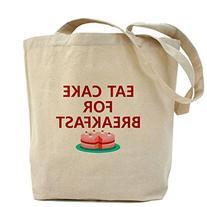 CafePress - Eat Cake For Breakfast Tote Bag - Natural Canvas