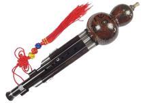 Ebony Cloisonne 3 Octaves Gourd Flute Hulusi + Case#109T