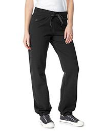 Champion Women's Elastic Hem Eco Fleece Sweatpant, Black,
