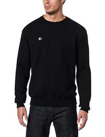 Champion Men's Pullover Eco Fleece Sweatshirt, Black, Medium