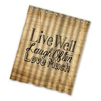 Eco-friendly Vintage Wood Pattern With Live Laugh Love