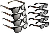 eDimensional Adult Passive Polarized 3D Glasses Family Pack