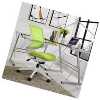 Edge White Base Office Chair by Modway Green