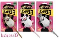Fat Cat, Inc. Kitty Hoots EEEKS Mouse Assorted