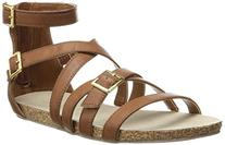 Madden Girl Women's Effort Gladiator Sandal,Cognac,9 M US