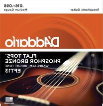 D'Addario EFT13 Flat Tops Phosphor Bronze Acoustic Guitar