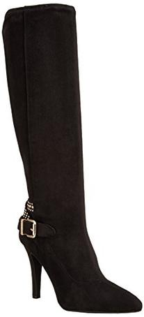 Women's Eileen Black Mid-Calf Suede Boot - 9.5M
