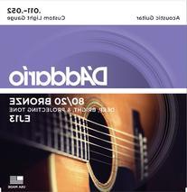 D'Addario EJ13 80/20 Bronze Acoustic Guitar Strings, Custom