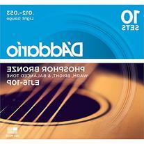 D'Addario EJ16 Phosphor Bronze Light Acoustic Strings 10-