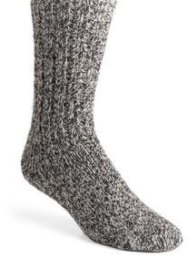 Wigwam Men's EL-Pine Ragg Wool Crew Socks, Salt & Pepper, Medium
