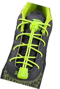 ChezMax Elastic No-Tie Shoe Laces for Any Ages Fluorescent