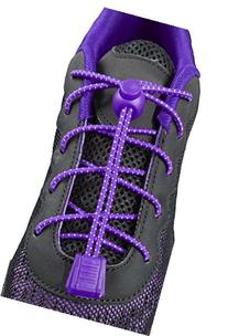 ChezMax Elastic No-Tie Shoe Laces for Any Ages Purple with