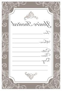 Elegant Neutral Mocha Brown Fill In Invitations - Wedding,