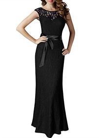 MIUSOL Women's Elegant Floral Lace Sleeveless Halter