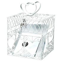 Amscan Elegant Wedding Card Holder Box with Silver Glitter