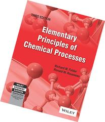 Elementary Principles of Chemical Processes