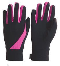 TrailHeads Elements Running Gloves - black / neon pink