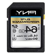 PNY Elite Performance 64GB High Speed SDXC Class 10 UHS-I,
