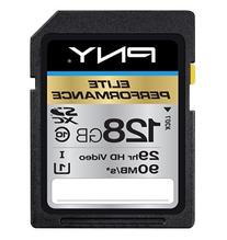 PNY Elite Performance 128GB High Speed SDXC Class 10 UHS-I,